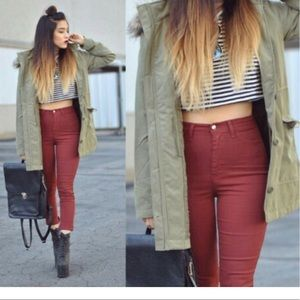 Deep red  seven jeans